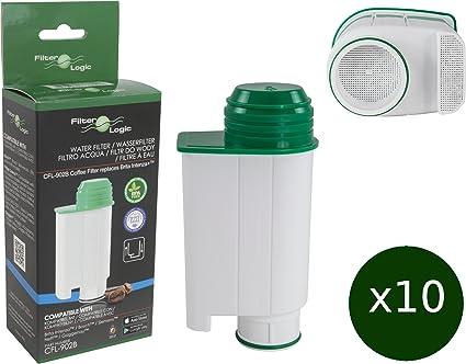 10 x FilterLogic CFL-902B - Filtro de agua reemplaza el cartucho de Saeco nº