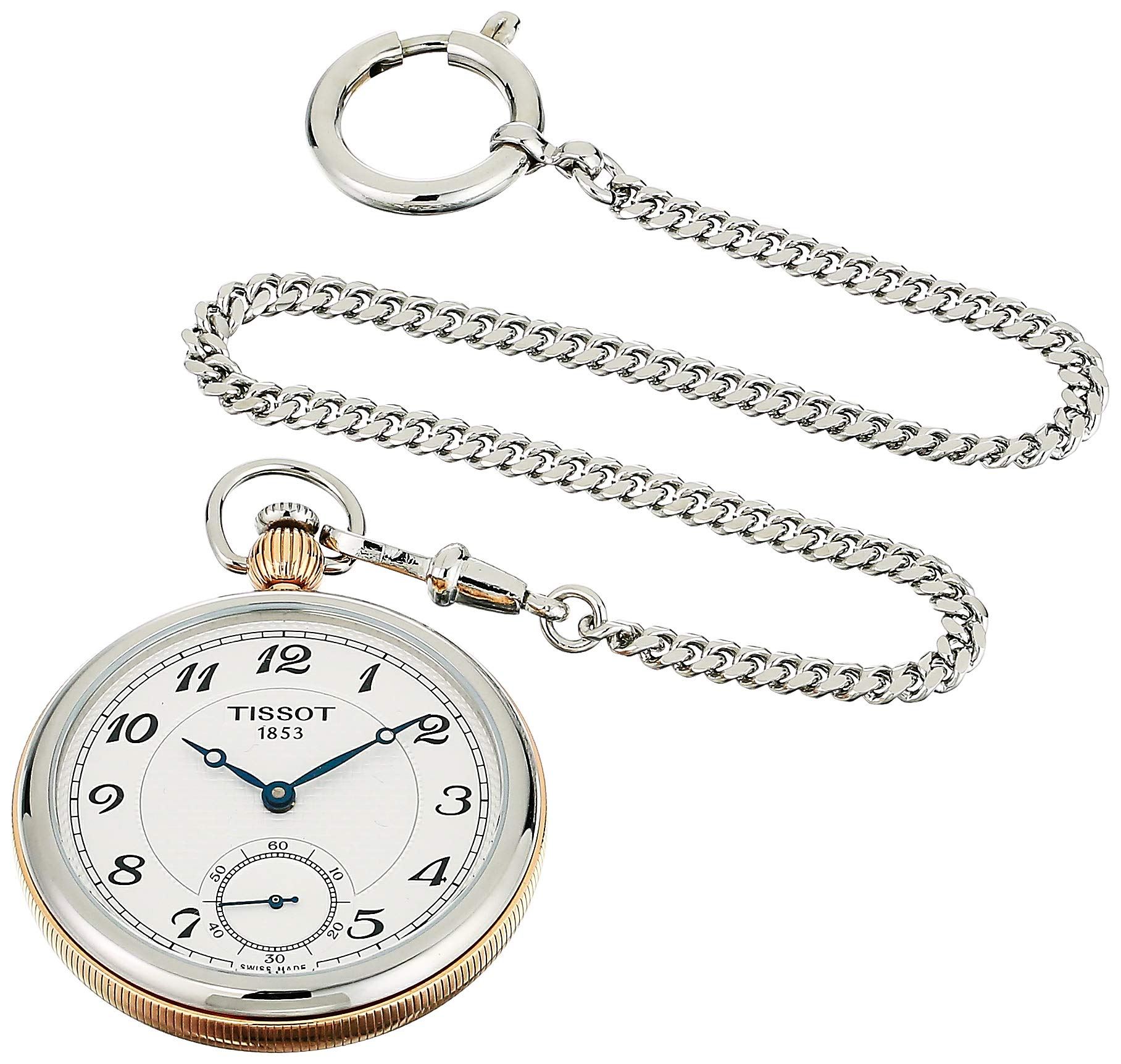Tissot Unisex Bridgeport Lepine Mechanical Stainless Steel Pocket Watch (Model: T8604052903201)