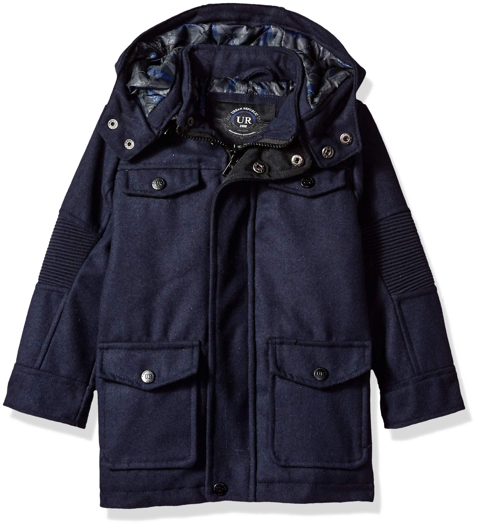 Urban Republic Little Boys Wool Jacket, Navy, 5/6