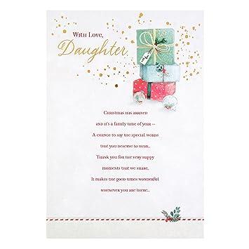 Amazon hallmark daughter sentimental verse christmas card hallmark daughter sentimental verse christmas card lovely daughter medium m4hsunfo