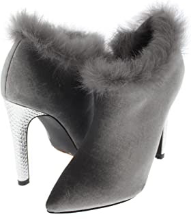 307491d46c23 Shoe Republic LA Pointy Toe Stiletto Bootie w Feather Trim Maddy