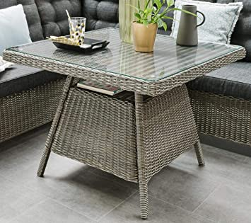 Destiny Table de jardin Palma Vintage Gris Table lounge Table en ...
