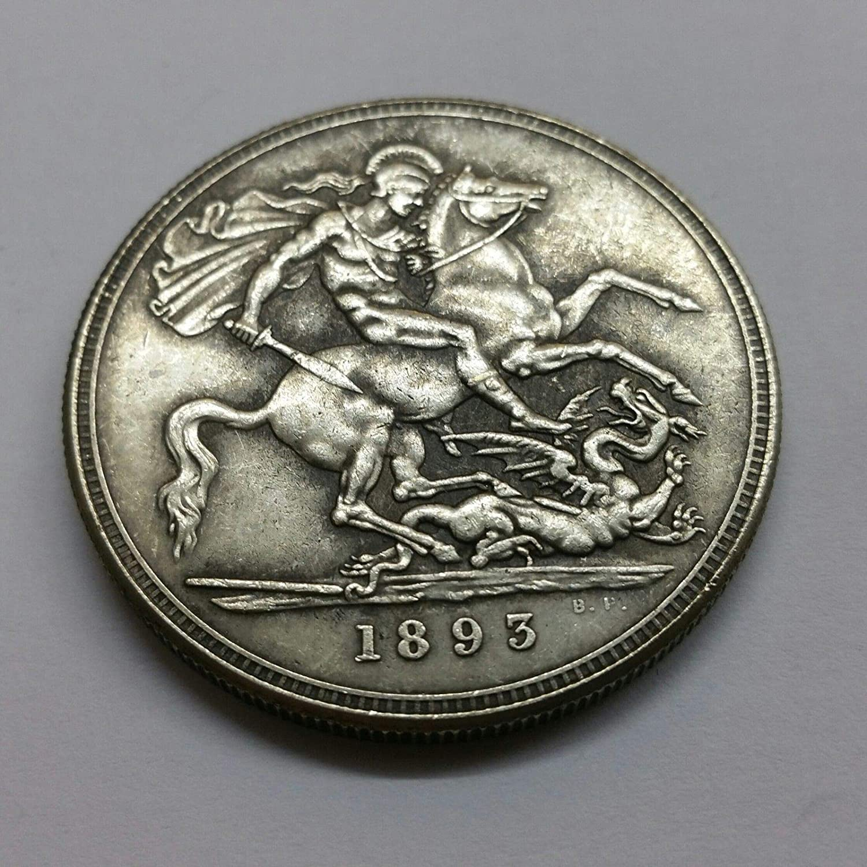1935 Peace Dollar Fantasy Issue Novelty Coin W// Skull Zombie Head
