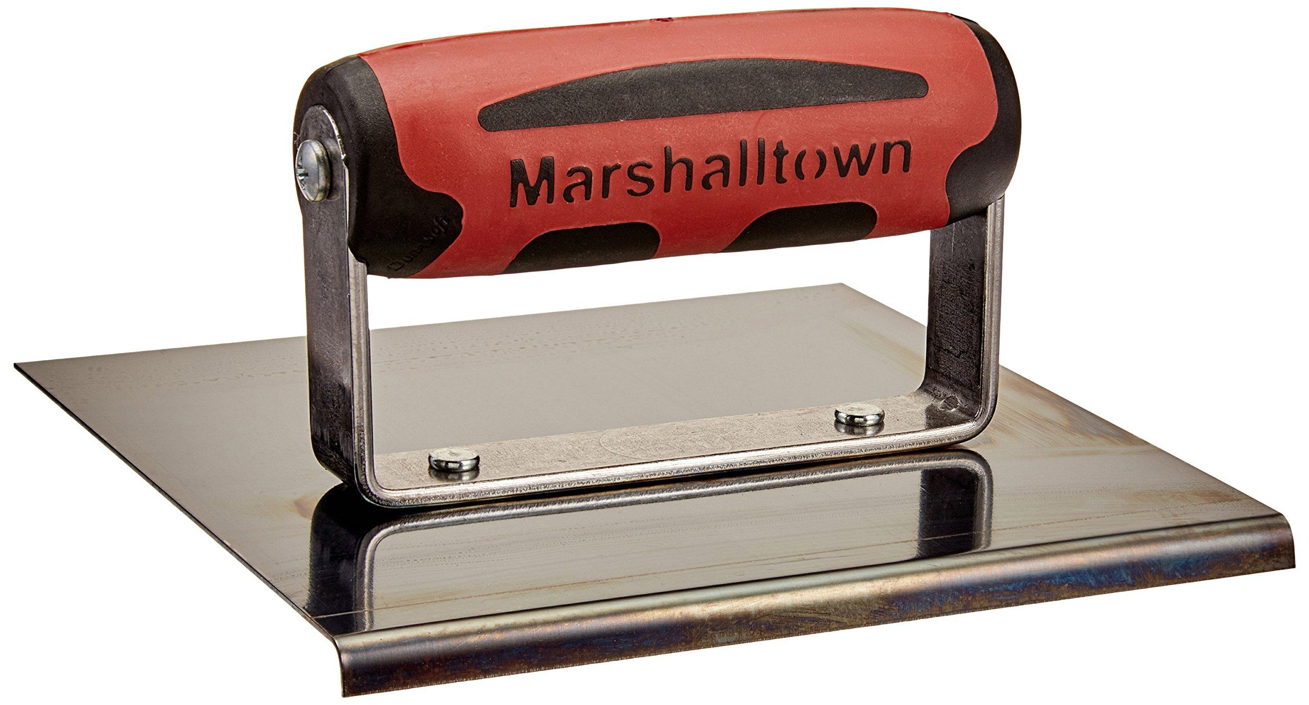 MARSHALLTOWN The Premier Line 161BD 6-Inch x 6-Inch Blue Steel Edger-1/8-Inch Radius, 1/4-Inch Lip DuraSoft Handle