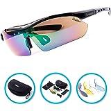 Verdster TourDePro Polarized Cycling Sport Sunglasses For Men and Women 5 Lenses