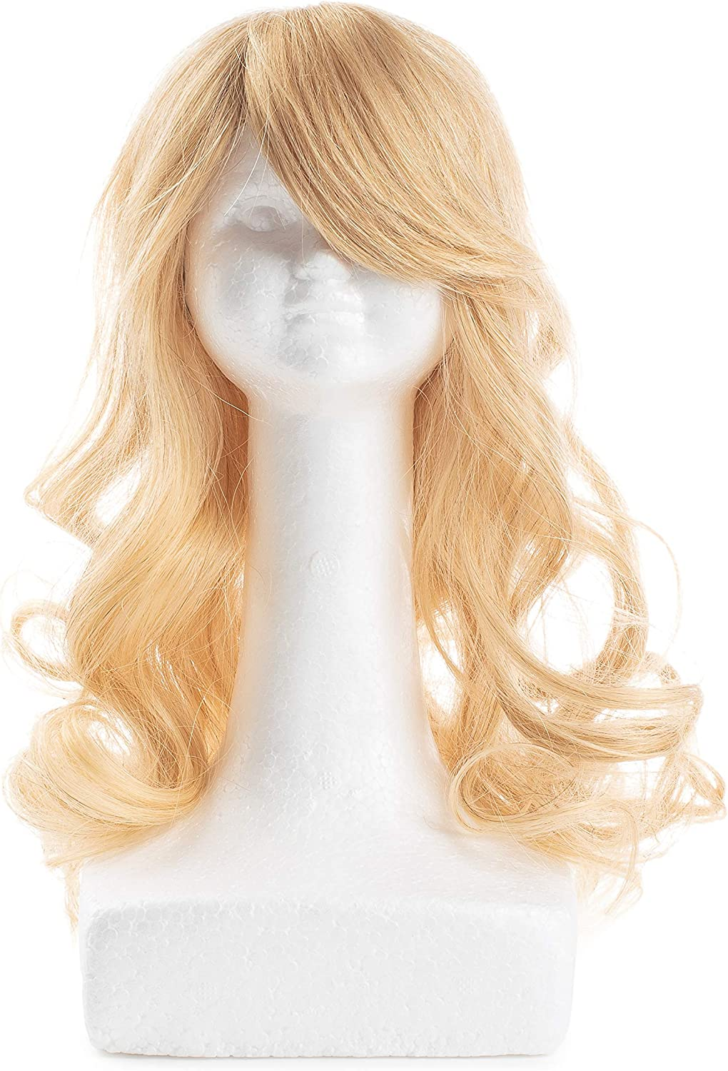 Amazon Com Teeny Dini Human Hair Wig Wash Style Blow Dry Doll S Wigs Just Like Mom Does Blonde Curly Wig Toys Games