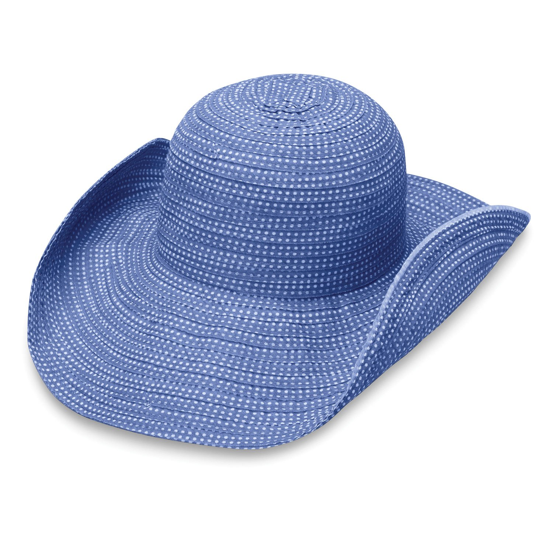 Wallaroo Hat Company Women's Scrunchie Sun Hat - Hydrangea/White Dots - UPF 50+, Ultra-Lightweight, Packable for Every Day, Designed in Australia. by Wallaroo Hat Company (Image #3)