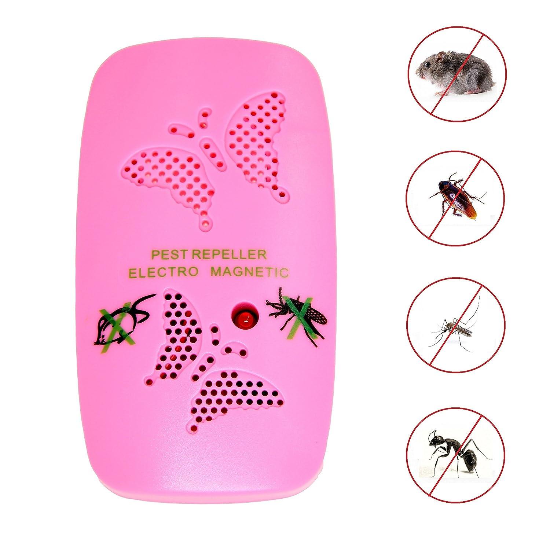 Ultrasónica repelente de plagas - Electronic Pest Control Repel ratón, Cucaracha, moscas, mosquitos, hormigas, arañas, insectos, repelente de roedores ...