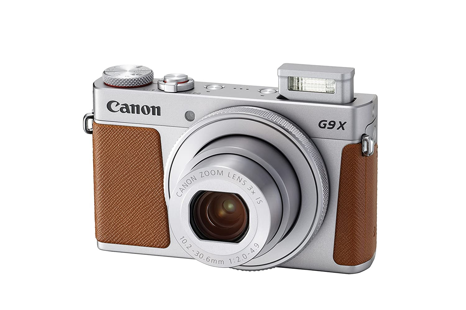 Canon PowerShot G9 X Mark II Compact Digital Camera w/1 Inch Sensor and 3inch LCD - Wi-Fi, NFC, Bluetooth Enabled (Silver)
