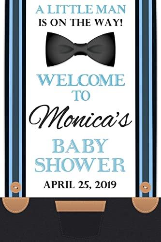 Amazon Com Little Man Baby Shower Sign Little Gentleman Welcome