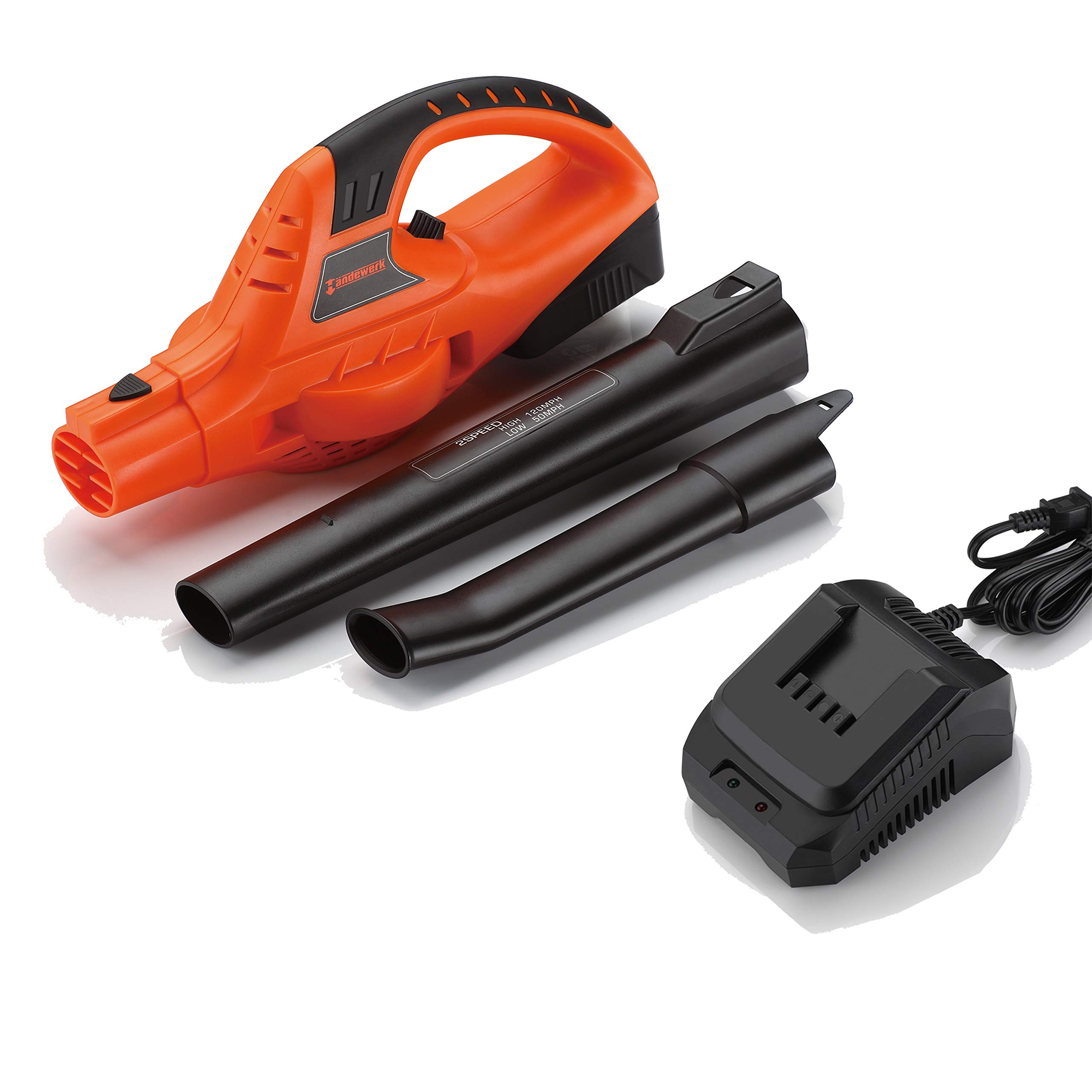 Garden Bean 130 MPH High Performance Variable Speed Cordless Handheld Leaf Blower with Battery & Charger by Garden Bean (Image #4)