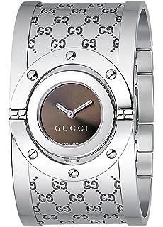 3072326a5c4 Amazon.com  GUCCI Women s YA112416 Twirl Brown Dial Watch  Gucci ...
