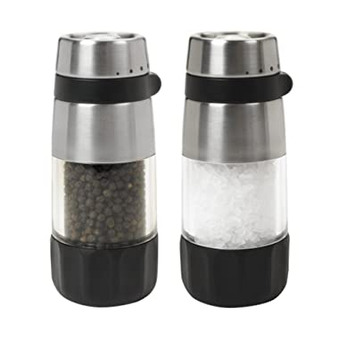 OXO Salt and Pepper Grinder Set, Stainless Steel