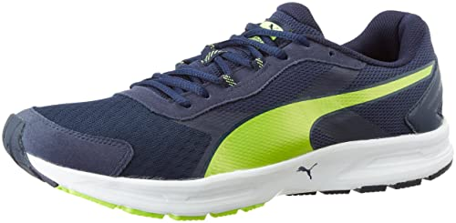 902be9d5dcfba4 Puma Men s Descendant V3 Idp Peacoat and Safety Yellow Running Shoes - 10  UK India