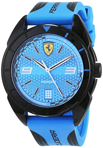 Scuderia Ferrari Reloj Analógico para Hombre de Cuarzo con Correa en Silicona 830518: Amazon.es: Relojes