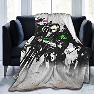 Classic Halo Classic Role Colorful Blanket Durable Ultra-Soft Comfortable Luxury Blanket All Seasons for Bedroom Living Room Sofa Home Office Travel Picnic