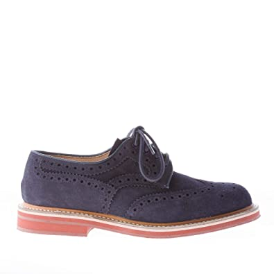 9db331b837b Church s Men Shoes ORBY Blue Navy Suede Derby with Classic Brogues Wingtip