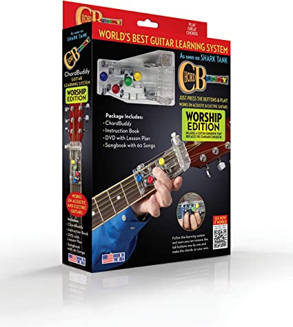 Guitar Learning System Teaching Aid Chord Buddy Tool Device Clear