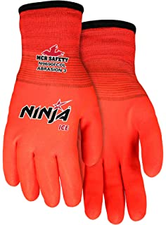 MCR Safety N9690HVM Ninja Ice Hi-Vis 15 Gauge Lime Nylon Gloves Medium