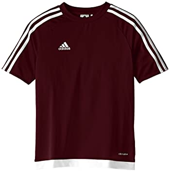 adidas Youth Soccer Estro Jersey, Maroon/White, XX-Small