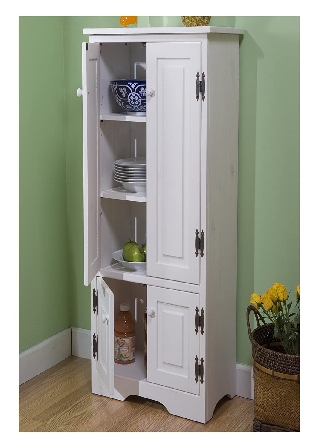 Beau Amazon.com: Target Marketing Systems TMS Extra Tall Pine Cabinet, White:  Kitchen U0026 Dining