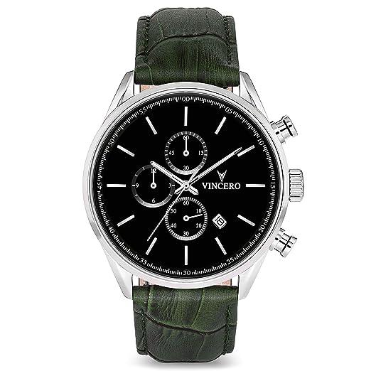 Reloj de Pulsera Chrono S de Lujo para Caballeros Vincero – Reloj con Disco Negro y