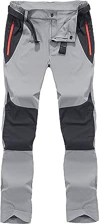 BIYLACLESEN Men's Outdoor Work Pants Lightweight Breathable Quick Dry Hiking Pants Zipper Pockets