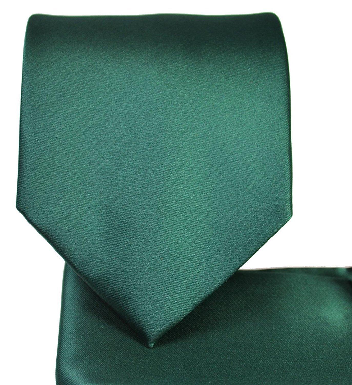 Solid Pattern NeckTie Set (Forrest Green)