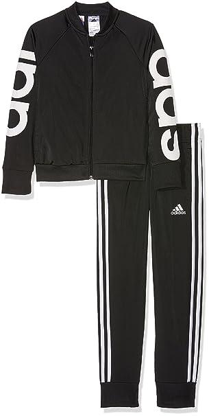 adidas Mädchen Linear Polyester Trainingsanzug