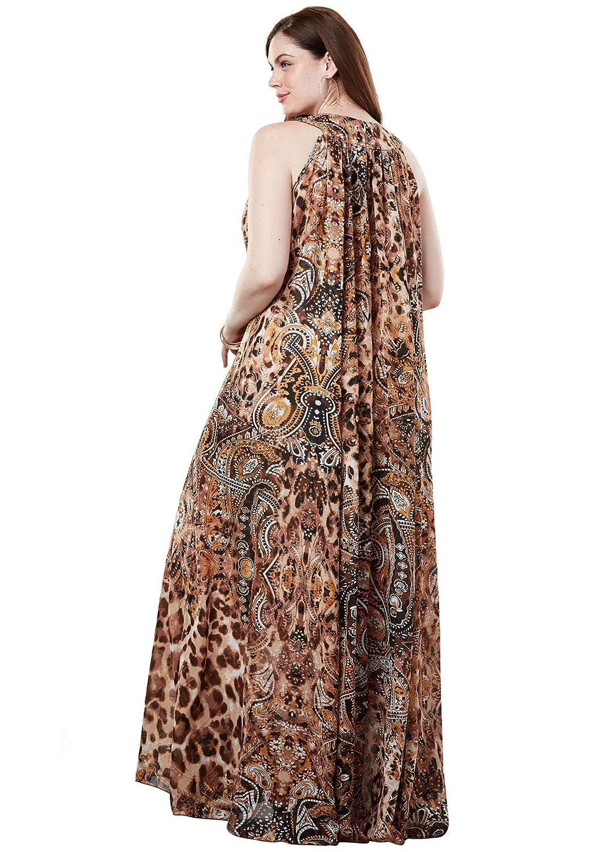 Roamans Women\'s Plus Size Tribal Maxi Dress