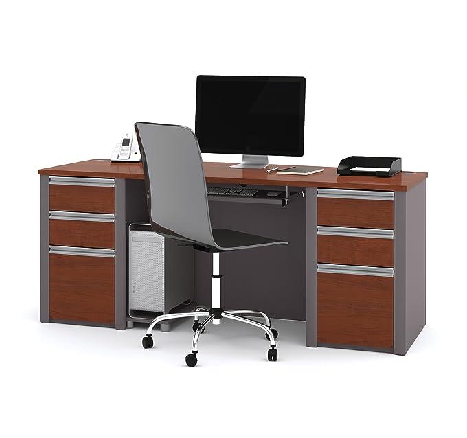 Amazon.com: Bestar Office Furniture Connexion Collection Melamine Finish  Computer Desk, Slate/Sandstone: Kitchen U0026 Dining