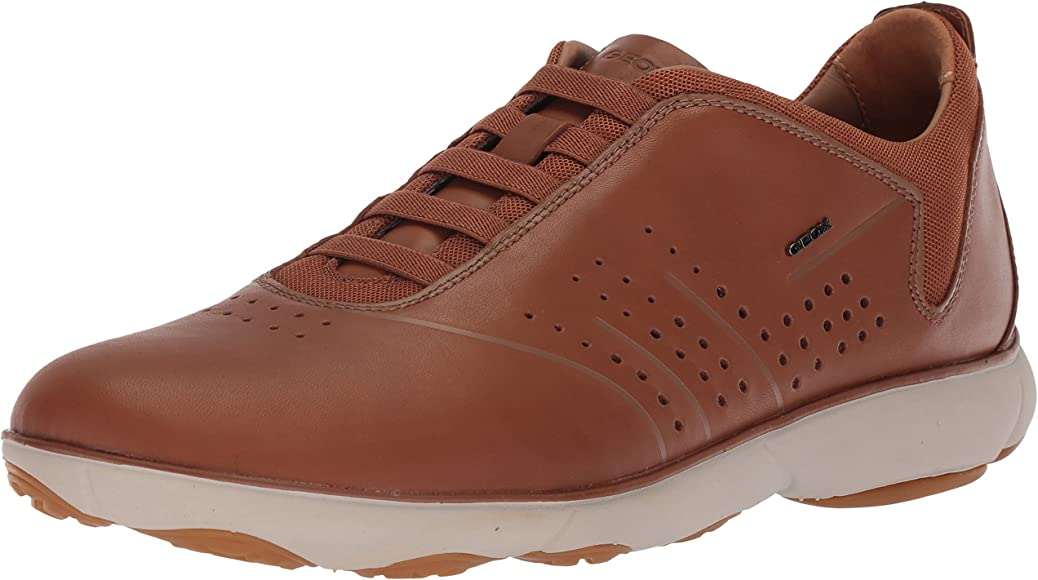Geox Men's Nebula 40 Sneaker, Cognac