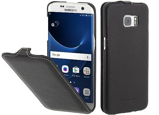 9 opinioni per StilGut UltraSlim Case, custodia in pelle per Samsung Galaxy S7 edge, Nero