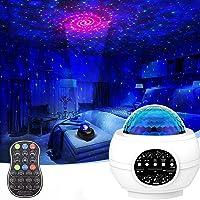 جهاز عرض نجوم 3 في 1 من جامي مصباح ليلي متموج المحيط لغرفة النوم مع جهاز تحكم عن بعد، جهاز عرض للفضاء بالنجوم الذكي مع…