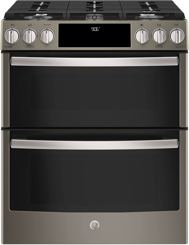 Amazon Com Ge Pgs960eeles Slide In Gas Range Cooktop Appliances