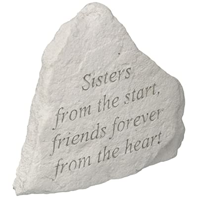 "Kay Berry 74220"" Sisters from The Start, Friends Forever… Decorative Stone, Multicolor: Home & Kitchen"
