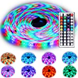 Rxment Led Strip Lighting 10M 32.8 Ft 3528 RGB 600LEDs IP65 Waterproof Flexible Color Changing Full Kit with 44 Keys IR Remote Controller , Control Box ,24V 3A Power Supply for Home Decorative