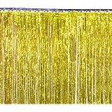 (ビグッド)Bigood キラキラ タッセル フリンジ カーテン パーティー 飾り 結婚式 写真背景 デコレーション イベント 装飾 誕生日 クリスマス リース オーナメント 20本セット 1m ゴールド
