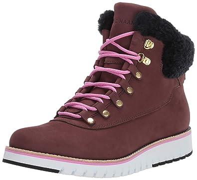 fd00ca3008 Cole Haan Women's Zerogrand Explore Hiker Waterproof Ankle Boot, Bitter  Chocolate/Black Shearli,