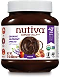 Nutiva Organic, non-GMO, Vegan Hazelnut Spread , Dark Chocolate, 13-ounces
