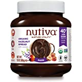 Nutiva Organic Vegan Hazelnut Spread, Dark, 13 Ounce | USDA Organic, Non-GMO, Fair Trade & Sustainably Sourced | Vegan & Glut