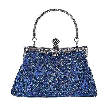 1cf221ec905 Baglamor Mujer Bolso de Vintage Estilo con Cuentas Bolso de Lentejuelas  bolso de Noche Bolsa de Fiesta Bolso de Embrague Monedero para Boda