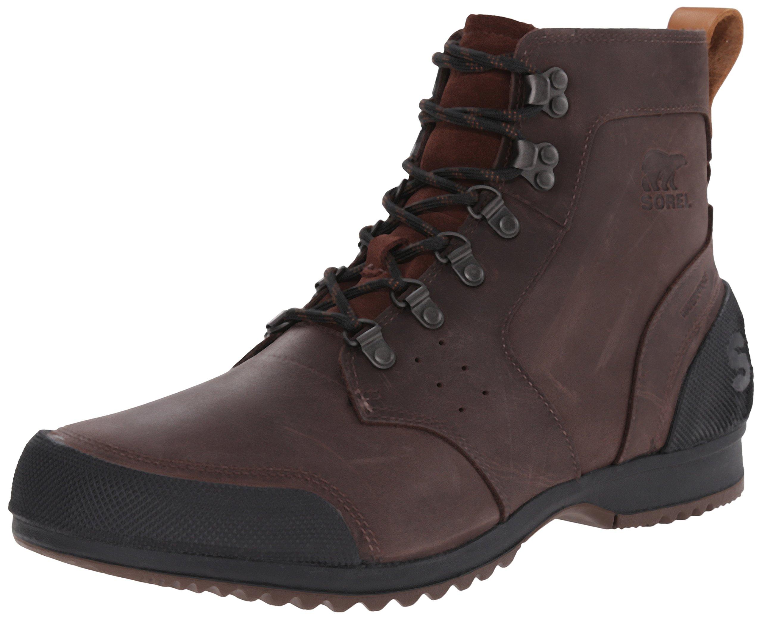 SOREL Mens Ankeny Mid Hiker Short Boot, Tobacco/Black, 12 B(M) US