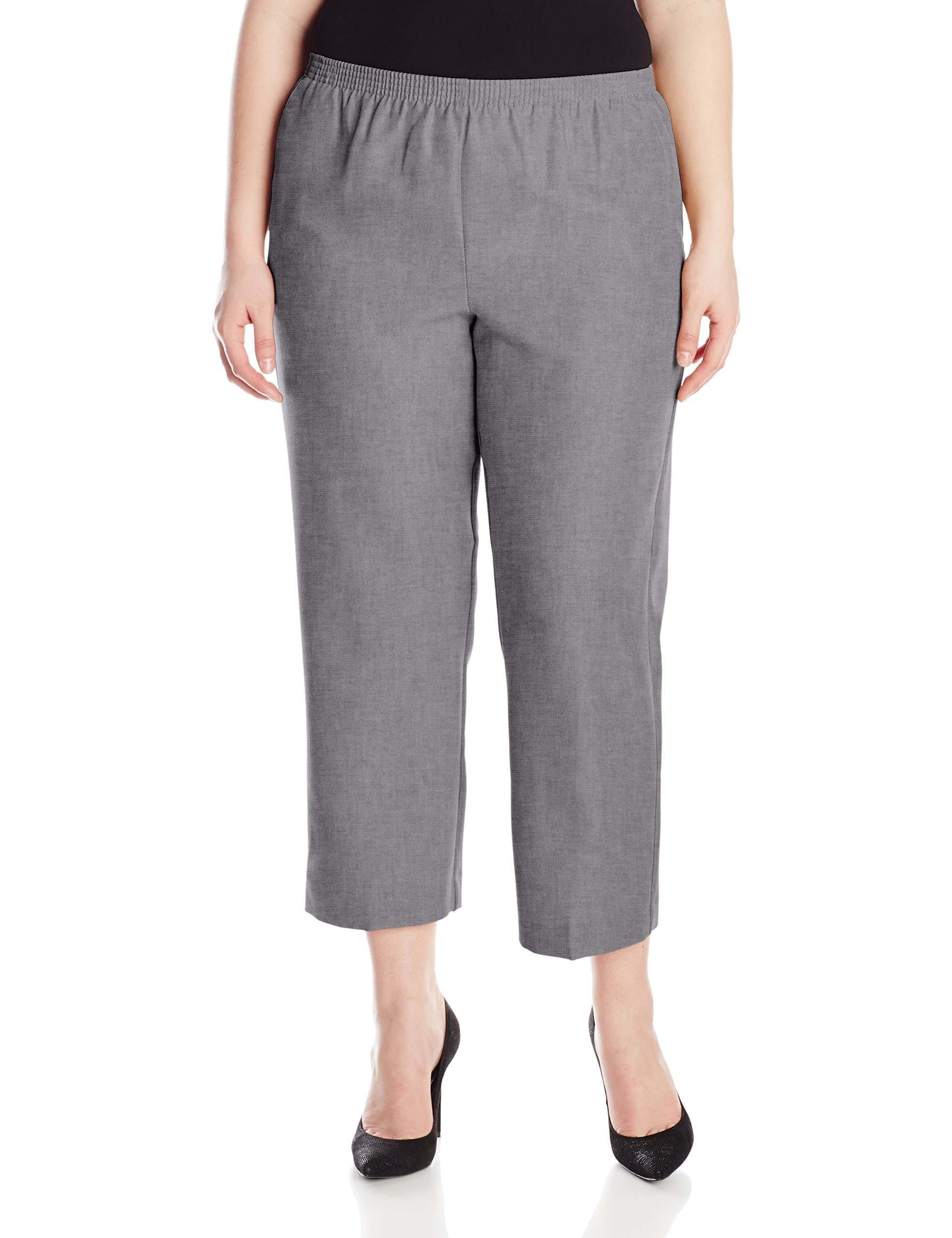 Alfred Dunner Womens Plus Short Pant, Gray, 18W by Alfred Dunner