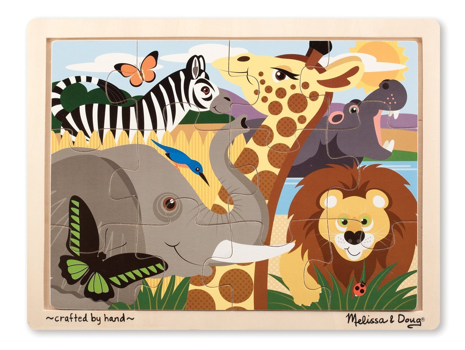 African Plains Wooden Jigsaw Puzzle