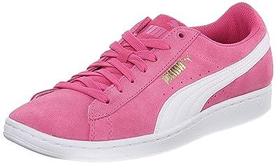 PUMA Women's Vikky Classic Sneaker, Carmine Rose/White, ...