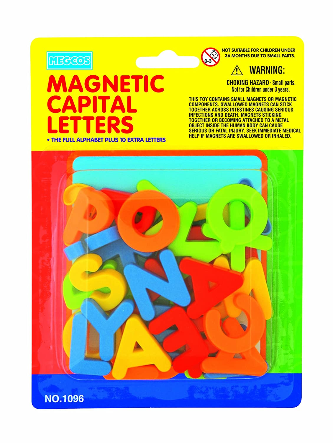 Design Alphabet Magnets amazon com megcos magnetic capital letters in a blister card 36 piece toys games