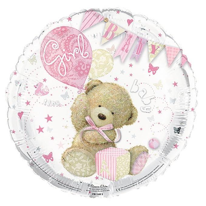 SIMON Elvin - Caseta de globo its a Girl, lunares, 46 cm plateado y rosa Talla única: Amazon.es: Ropa y accesorios