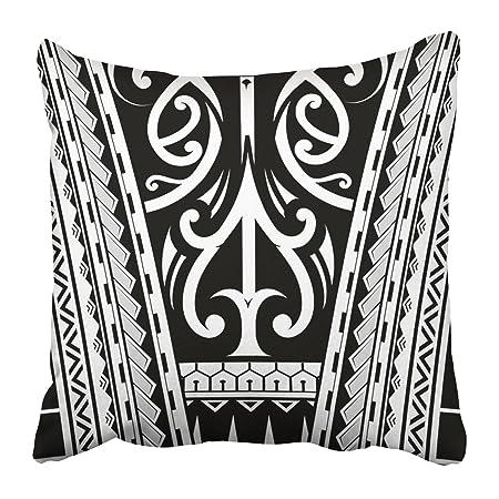 92569932a02ca Emvency Throw Pillow Covers Cases Decorative 16x16 Inch Black Aboriginal Maori  Tribal Sleeve Tattoo Arm Curl