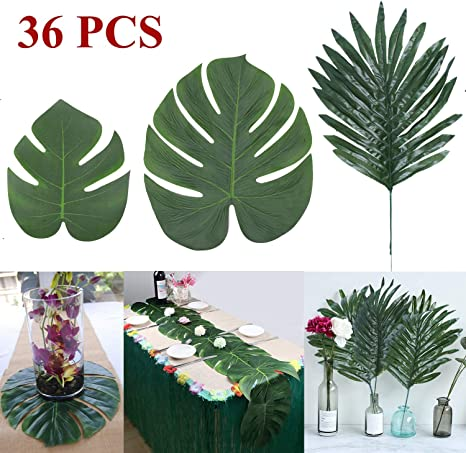 Amazon Com Linkhome 36 Pcs 3 Kinds Artificial Palm Leaves Tropical Plant Faux Leaves Safari Leaves Hawaiian Luau Party Suppliers Decorations Tiki Aloha Jungle Beach Birthday Table Decorations Home Kitchen See more of tropical leaves_hojastropicales on facebook. linkhome 36 pcs 3 kinds artificial palm leaves tropical plant faux leaves safari leaves hawaiian luau party suppliers decorations tiki aloha jungle